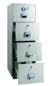 LockTech Fire Resistant Filing Cabinet 680 4 Drawer